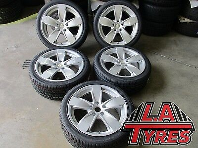 5x 18 INCH Holden COMMODORE VY SS Wheels Rims NEW TYRES IMCAULATE SUIT VL - VZ