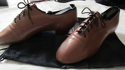 """Very fine"" customized men's Ballroom/Rhythm Dance shoes (chocolate / size 9.5)"