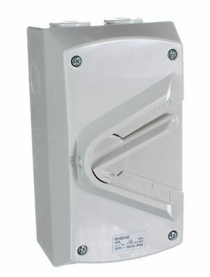 Clipsal Supplies Online  Clipsal WHB140 | Weatherproof Isolator 1 Pole 40 amp