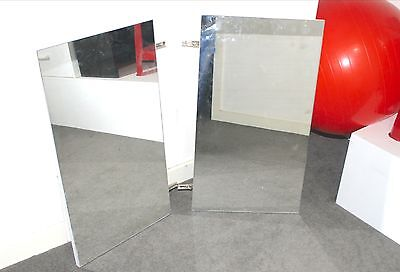 MiRROR DOORS, for bathroom cabinet  x 2 with hinges