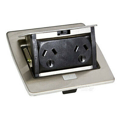 Clipsal Supplies Online  Clipsal SBIP2PSS | Pop-Up Power Outlet Stainless Steel