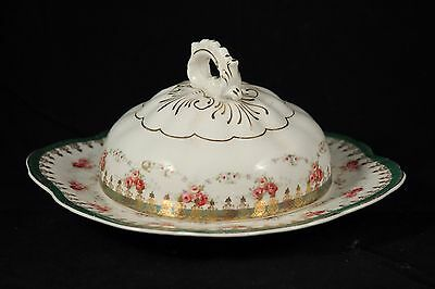 Vintage Smith Phillips Semi Porcelain Butter/Cheese Dish w/ Lid