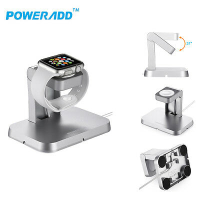 MFi Charger Stand Holder Portable Charging Dock + Cable For Apple Watch iWatch