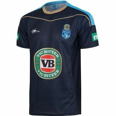 2017 NSW Blues Training Tee - State Of Origin - New South Wales - Size S to 3XL