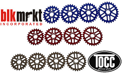 "Black Market Revolver Lite Sprockets suits MTB or BMX 3/32"" chains 5mm wide"