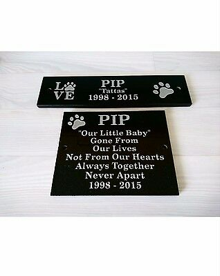Personalised Polished Black granite plaques.       Memorial/House/Garden
