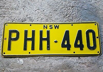 NSW number plate X1. Reflective. Collector or display