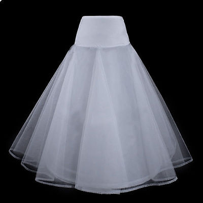 A-Line White Bride Gowns New Slips 1 Hoop Petticoat Underskirt Wedding Dress