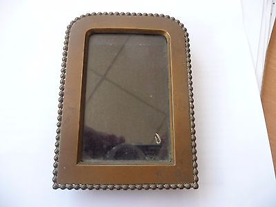 antique gilt gilded brass easel photo or miniature painting frame C 1900