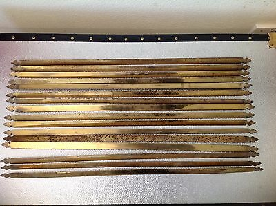 Antique Brass Stair Rods Trefoil Ends  27'' X 16