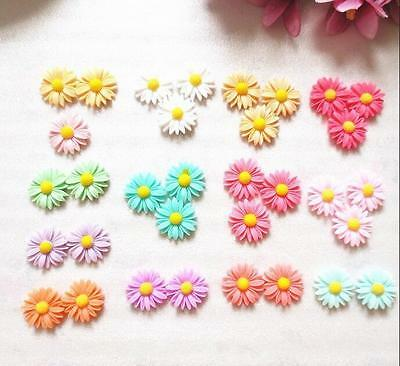 20pcs Cute Resin Flatback Scrapbooking Flower Sunflower New DIY Phone /Craft