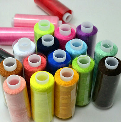 Polyester Hand Sewing Thread Mixed Colors 24/Lot Quilting Machine Spool 2016