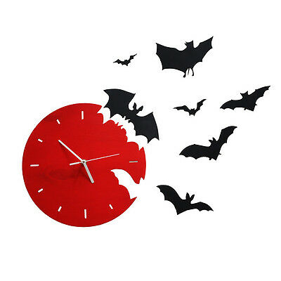Bats wall clock large office home modern room decoration new design unique