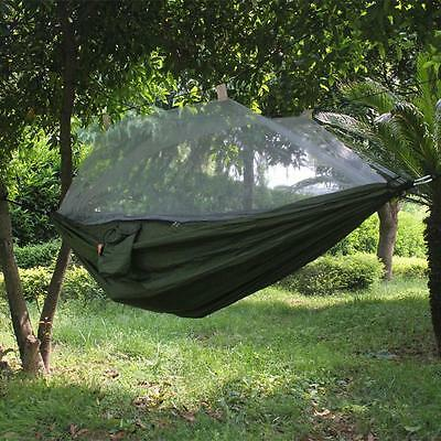 Outdoor Portable Hammock with Mosquito Net/Bar Camping Travel Garden Tree Straps