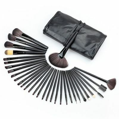 MAKE UP 32 PEZZI PENNELLI TRUCCO COSMETICA SET BRUSH con Pregiata Custodia Nera