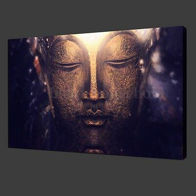Buddha Statue Abstract Canvas Print Wall Art Painting Picture Unframed Decor