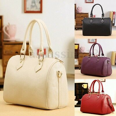 Women Leather Handbag Shoulder Shopping Bag Tote Lady Purse Crossbody Satchel