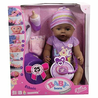 Baby Born Interactive Ethnic Girl Doll Parts Accessories Zapf Creations