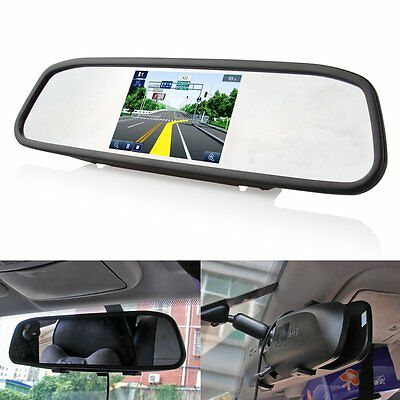 "4.3"" Screen Car TFT LCD Rear View DVD Mirror Monitor For Reverse Backup Camera"