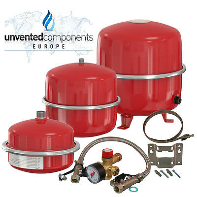 Flamco Expansion Vessels 8, 12, 18, 25 and 35 litre System Sealed Kit Bracket