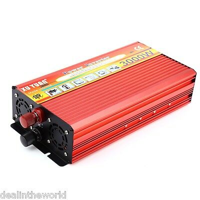 XUYUAN 3000W Solar Car Power Inverter Modified Sine Wave Vehicle Mounted Charger
