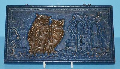 Antique Advertising Owl Cast Iron Sign Johnston Paint Co. Richmond Indiana