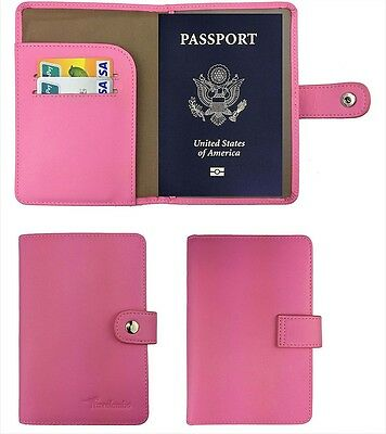 RFID Blocking Leather Passport ID Card Holder Women Travel Case Cover Wallet New