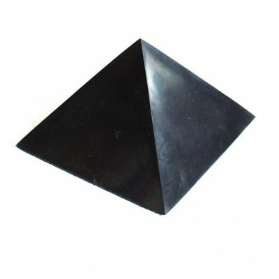 "BEST!! Polished Shungite Pyramid 70x70mm (2,76""x2,76"") Schungite  RUSSIA"