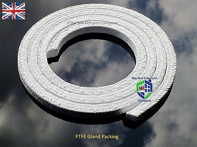 GLAND PACKING ROPE/SHAFT SEAL SOLD PER METRE - PTFE (Various Sizes)