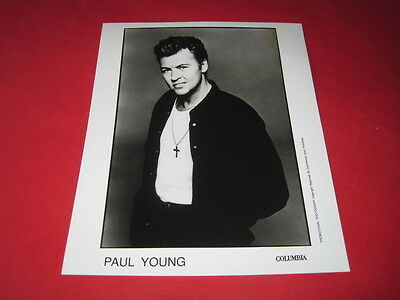 PAUL YOUNG 10 x 8 inch promo press photo photograph #F110_2196