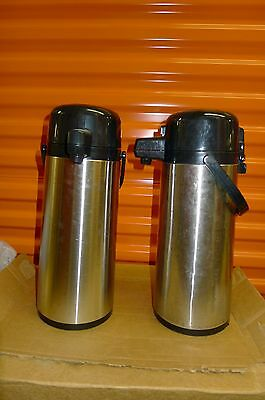 Used Stainless Steel 2.2L Coffee/Tea Airpot Lever-Top, Steel Liner Thermos