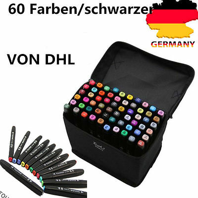 MARKER TouchFIVE 60pcs Farben Colors Marker Sketch Farbstifte Manga Architektur