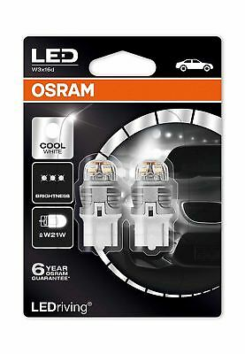 Osram Premium LED W21W 582/382W 12V 7905CW-02B Cool White Bulbs 6000K Twin