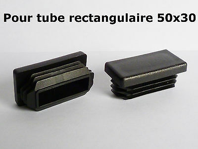 2 bouchons embouts pour tube rectangulaire plastique pvc noir 40x20 mm eur 2 80 picclick fr. Black Bedroom Furniture Sets. Home Design Ideas