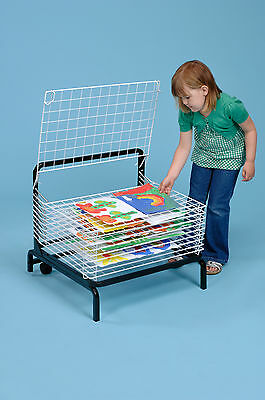 10 Shelf Spring Loaded Art Drying Rack with FREE Non-Spill Paint Pots (A1166)