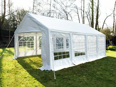 Great White Marquee 4m x 8m Economy Wedding Party Tent Event Gazebo White NEW