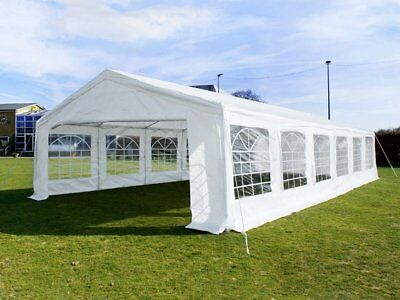 Great White Marquee 6m x 12m Economy Wedding Party Tent Event Gazebo White NEW