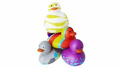 Boon Kids Odd Ducks for Baby Bath Time - In Various Shapes & Colours (4 Pack)