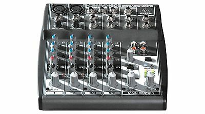 Behringer Xenyx 802 8 Input Mixer, Great Sound, High Headroom Mic Preamp  - Grey