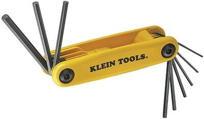 Square Cut Hex Key Set Folding Allen Wrench SAE Hand Tool 9 Keys Pocket Set