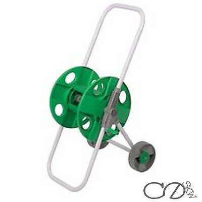 Portable Trolley Hose Pipe Reel Holder Garden Cart Water Pipe Carrier 45m