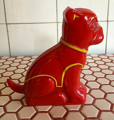"Vintage 1940s 1950s Flasher Boston Terrier ""Electric Animals"" Red Flashlight"