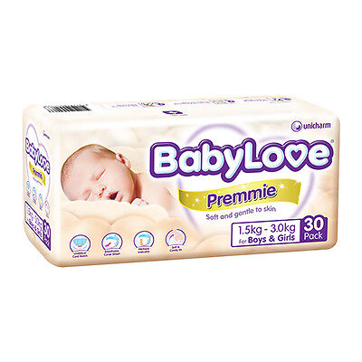 NEW BabyLove Premmie Nappy - 30 Pack