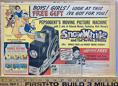 Snow White Projector Ad from Sunday Comics1937  Radio Patrol Little King 6 15 38