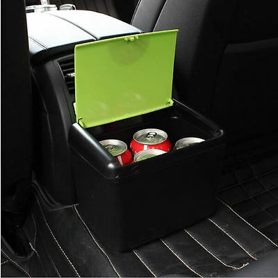 Mini Vehicle Auto Car Garbage Dust Case Holder Box Bin Trash Rubbish Can