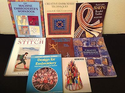 Joblot 8 Books Embroidery Braiding Stitching Loom Craft Hobby