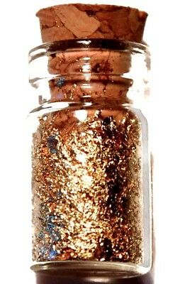 (10) .5 Ml Glass Jars Of 24K Gold Flakes Lot Of 10 Free Shipping