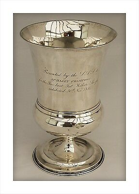 1834 William IV Sterling Silver Agricultural Trophy Goblet. Fat Wether Sheep.