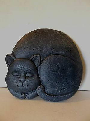 Silicone Rubber Mould Large Cat Hanging Wall Plaque Make Resell Profit