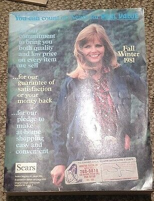 1981 Sears Fall Winter Catalog Cheryl Tiegs fashions, home, auto, sports, tools